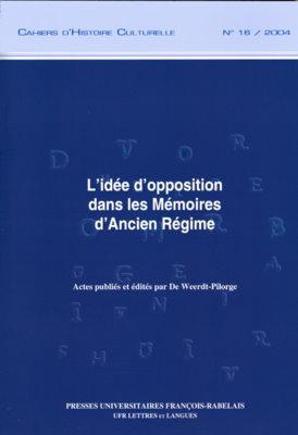 L'idée d'opposition dans les Mémoires d'Ancien Régime